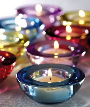 Jewel Tealight Candle Holders, Set of 8