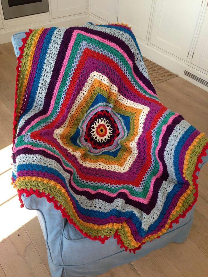 Mystery blanket from inside crochet magazine