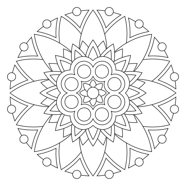 mandala coloring pages of sunday - photo#7