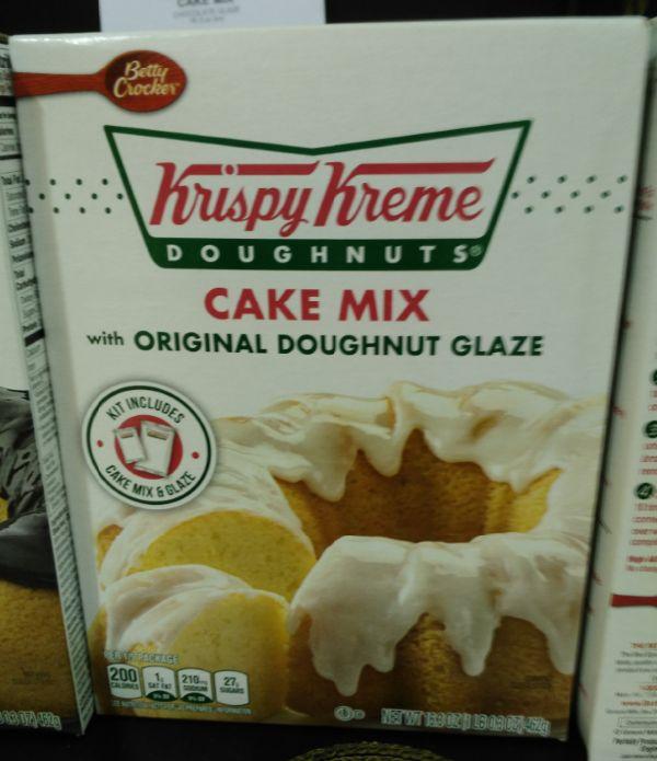 Betty Crocker Krispy Kreme Cake Mix With Chocolate Glaze Baking