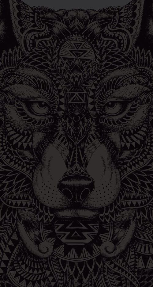 wallpaper, wolf, and black image