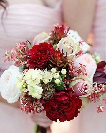Bruidsboeket vrij - rood