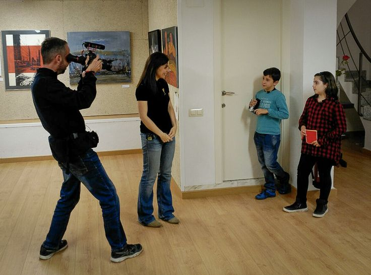 Grabando el programa de televisión Planeta Canalla para VOTV.