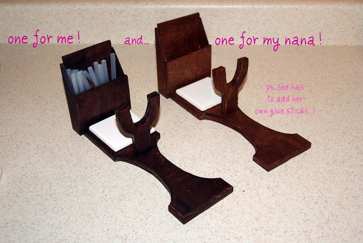 yesterday evening the hubby and i spent some time making a hot glue gun holder. :) i saw the picture on pinterest and immediately told the ...