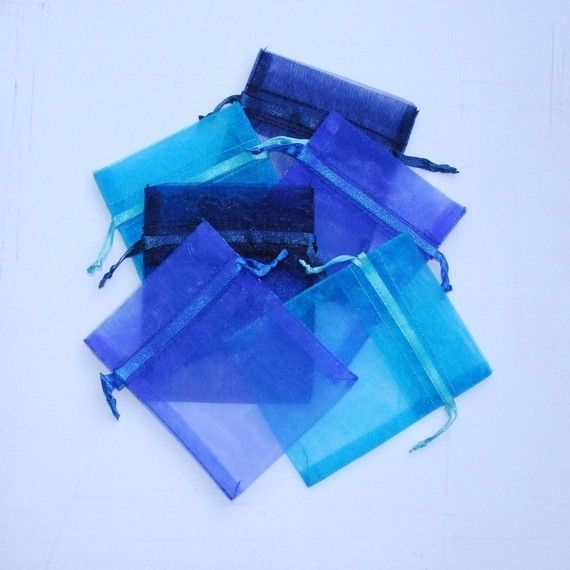 100 Organza Bags 3x4 inch Royal Blue by BeautifulAdditions on Etsy