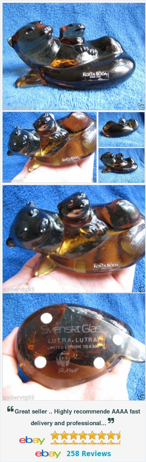 #Sweden #Kosta #Boda Paul #Hoff #art #glass #figurine #figure #Utter #WWF #animals limited #COLLECTIBLE  For sale #Scandinavian art glass #vintage Home #decor #design http://www.ebay.com/itm/-/121989926785?