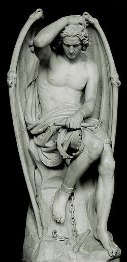 "Le génie du mal, or ""The Genius of Evil,"" is one of the most famous angel…"