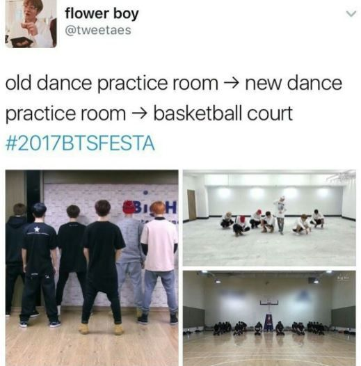 I miss the old practice room. They were closer and we can see their faces clearly ;(