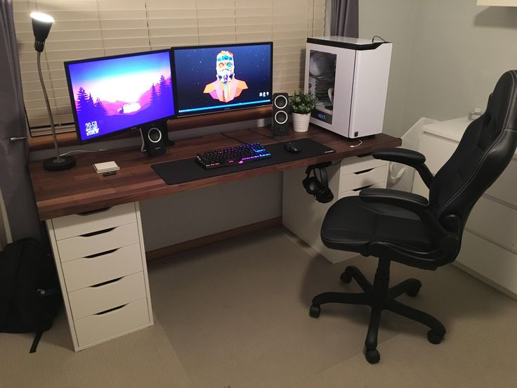 25 great ideas about ikea gaming desk on pinterest. Black Bedroom Furniture Sets. Home Design Ideas