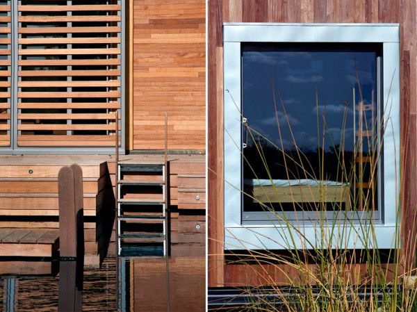 Outdoor Wooden Furniture from Best Retreat House Design by New Forest House in UK 600x449 Best Retreat House Design by New Forest House, in UK