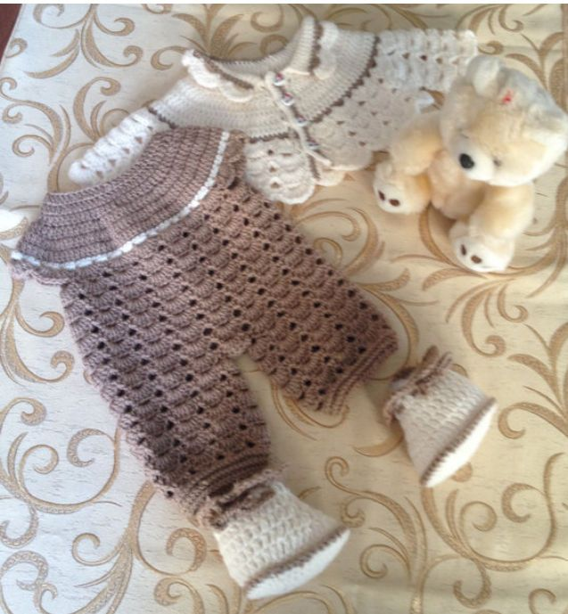 Baby Set. crochet,Jacket, pants by stellaknittingshop on Etsy