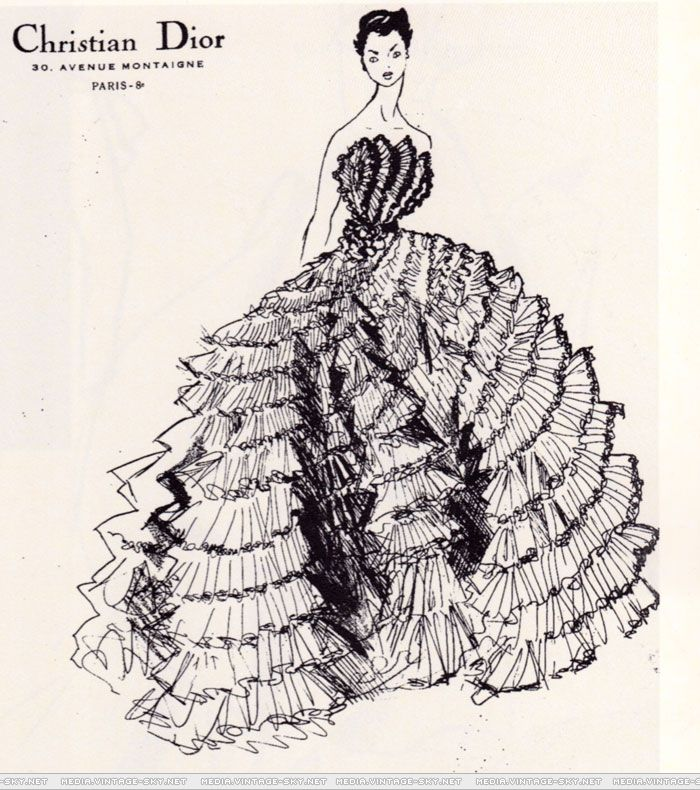 "1949 ""Fantasy on the Dance Floor"",  ball gown by Christian Dior"
