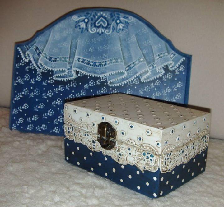 caja azules