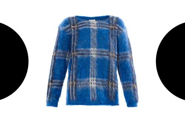 Saint Laurent Tartan mohair sweater