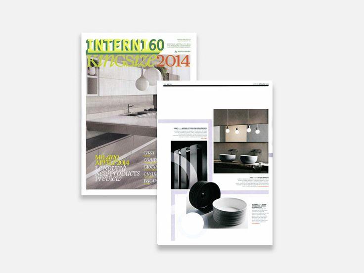 "Interni Magazine Kingsize ""Bagno"" - collezione #Trace by Veneziano+Team  #Valdama #Interni #InterniMagazine #Kingsize #MadeinItaly #ItalianStyle #ceramics #bathroom #design #bathroomdesign #mdw #MilanoDesignWeek2014"