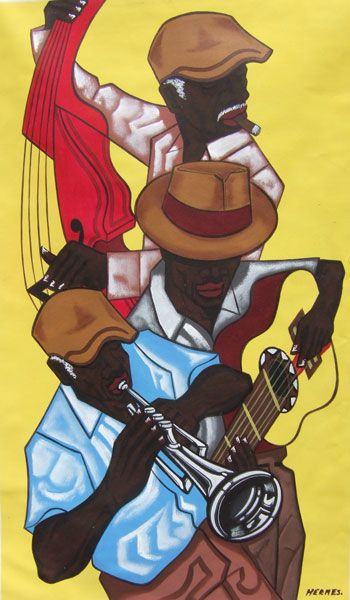 Wow, the flow through this piece...can you can feel the sense of rhythm? #Caribbean #Art