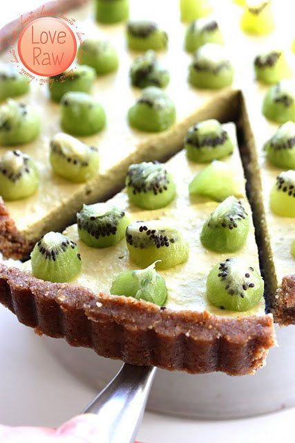 The Enzyme Pie (raw food) - recipe - vegan - kiwi - mango, gotta double check to see what they use though! sounds amazing.