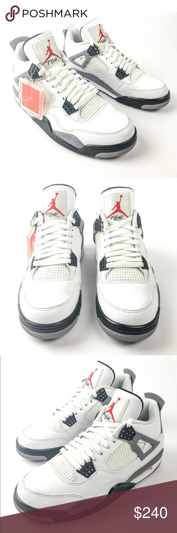 Air Jordan Retro 4 - White Cement (2012) Air Jordan Retro IV (4) White Cement (2012) Condition: 9/10 Minor Scuff/Wear & Tear (see pictures) Size: 9 US / 8 UK Color: Cement Shipping: US Only  Price: $230 (or Best Offer) Trades: Authentic equivalent value (i.e. BAPE, Adidas, Supreme, Yeezy, Palace, Retro Jordan etc.)  Comes with OG Box Ships out same day if purchased before Noon 100% Authentic Guaranteed  All pictures are of actual shoe  IG: @WelcomeReject See closet for similar listings  ALL…