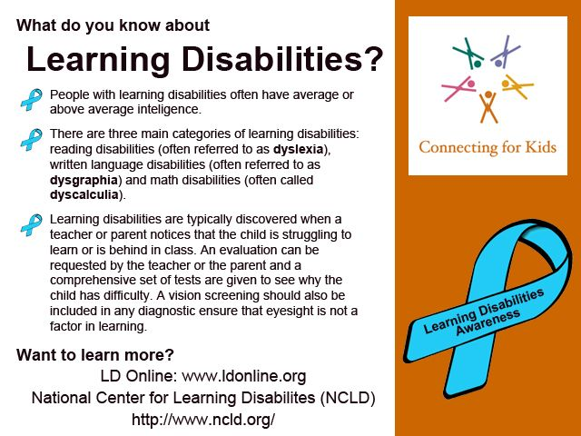 October kicks off Learning disabilities Awareness month. How much ...