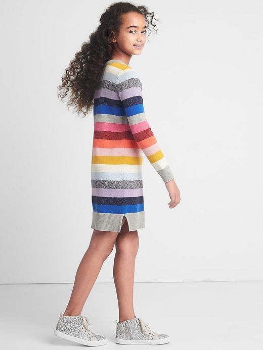 Cute crazy stripe sweater dress from the Gap.  #girls#gift#gap#ad
