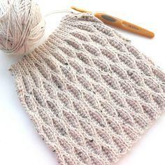 かぎ針編み 立体ウェーブの編み方 動画レシピあり:Crochet wave stitch