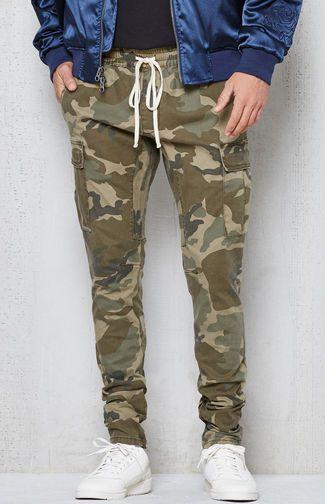 Drop Skinny Camo Cargo Jogger Pants