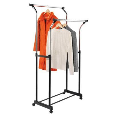 Flared Double Garment Rack. $42.99Double Flare, Heights Clothing, Clothing Racks, Damp Clothing, Double Garment, Flare Garment, Garment Racks, Flare Double, Adjustable Heights