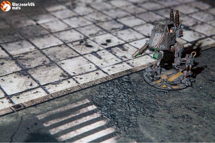 """Concrete 72""""x48"""" battle board for city fight"""