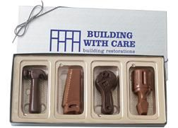 4 Tools in a Gift Box | Build sales with these miniature tool sets.  These shapes make the perfect gift or giveaway for renovation companies,...