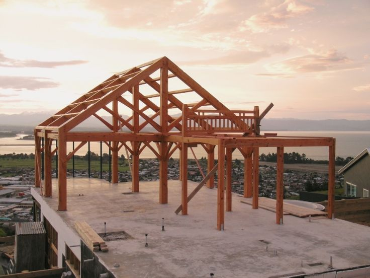 A completed frame in Nelson ready for the builders to do their part!