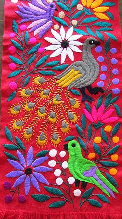 Mexican Table Linens, handmade, hand embroidered, home goods, Otomi embroidered and Mayan back loom strap woven, Original Mexican Textile