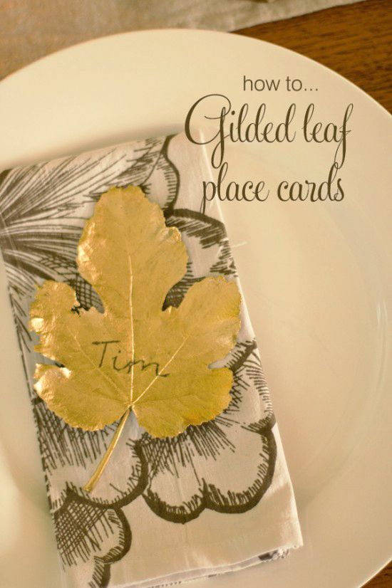 So you want an earthy yet elegant wedding but are a bit over hessian and lace?This gilded leaf diy wedding place card is the perfect project for you!