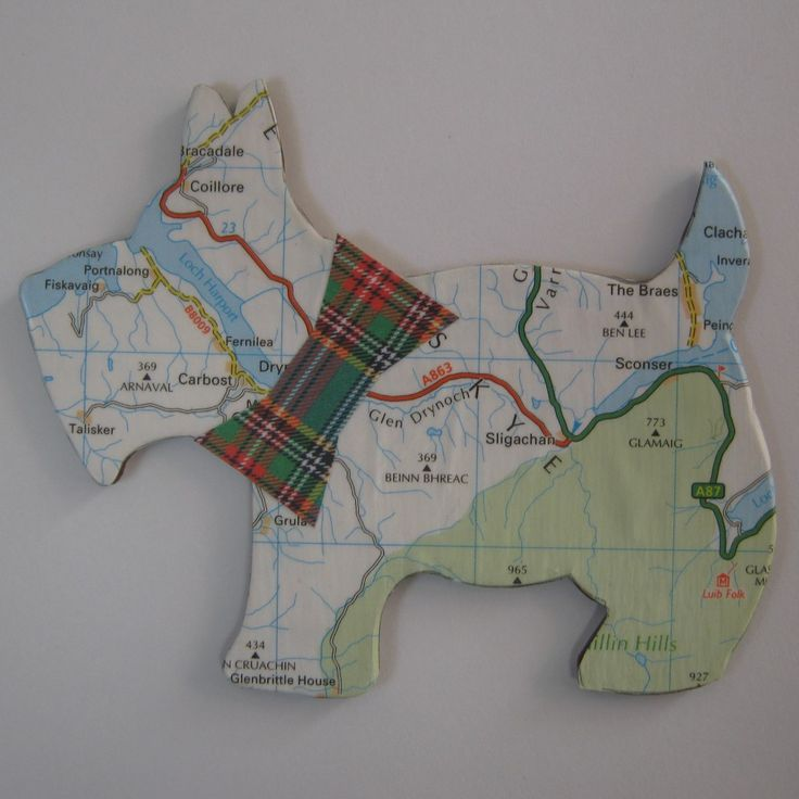 Good Gifts For Dog Lovers Part - 36: Scottie Dog Map Magnet Personalised Dog Lover By MooseintheMint