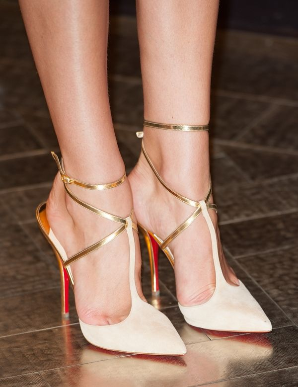 Stunning Nude & Gold Louboutins