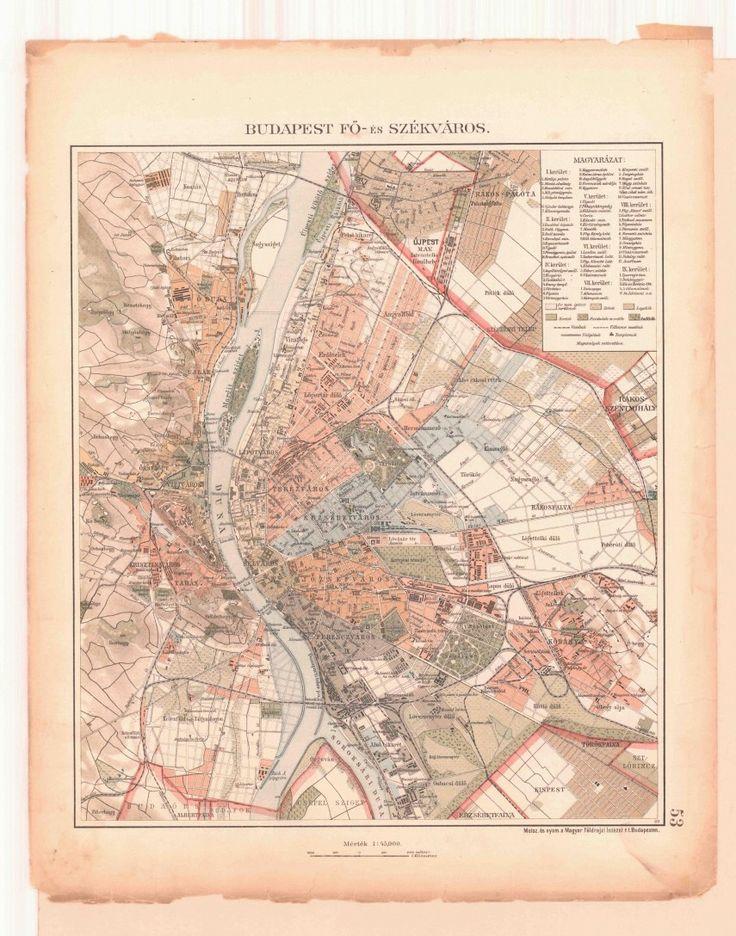 1908, Budapest, Fő-és SZÉKVÁROS-térkép