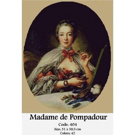 Cross Stitch Set Madame de Pompadour http://gobelins-tapestry.com/portraits/851-madame-de-pompadour.html