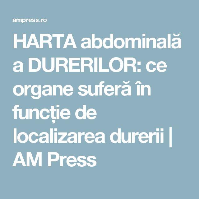 HARTA abdominală a DURERILOR: ce organe suferă în funcție de localizarea durerii | AM Press