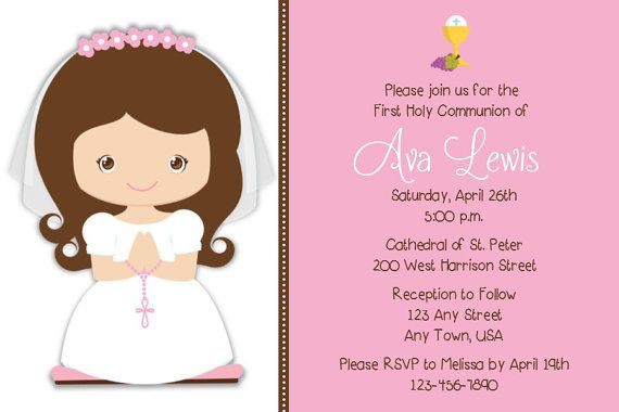 First Holy Communion Invite Save the Date by MelissaStanleyDesign, $12.00