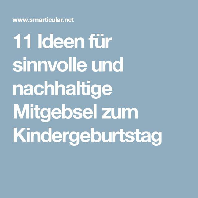 11 Nachhaltige Mitgebsel Für Den Kindergeburtstag