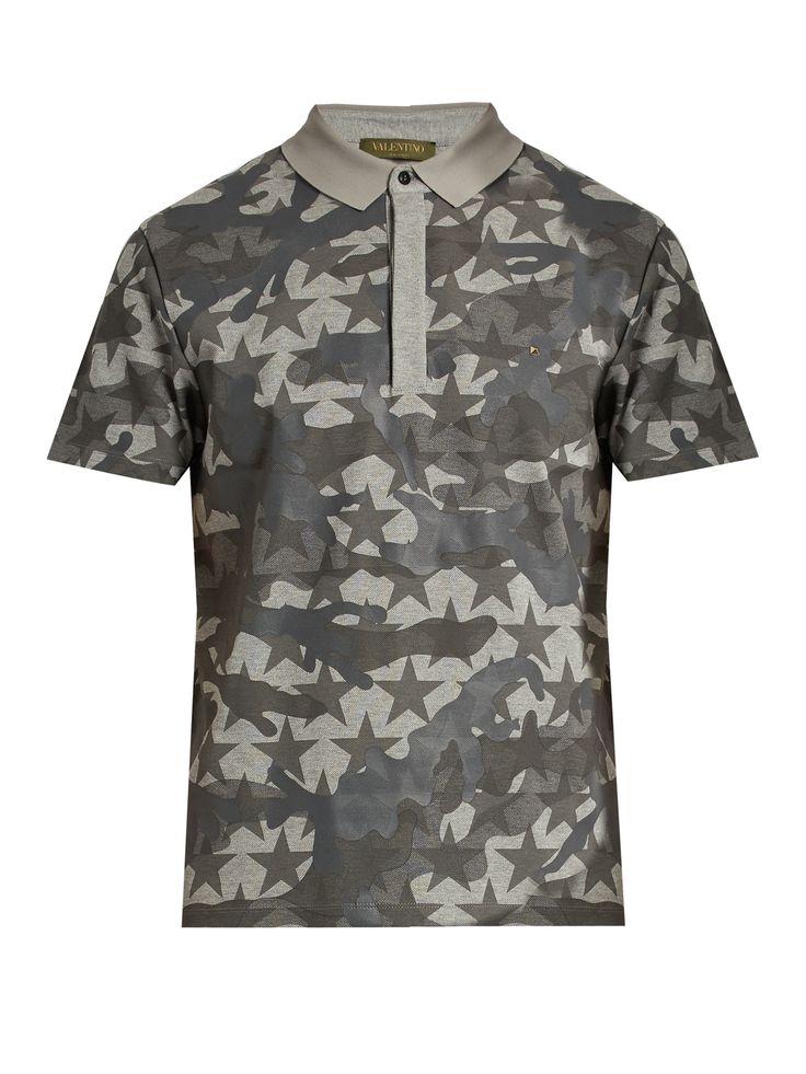 Camustars-print cotton-piqué polo shirt  | Valentino | MATCHESFASHION.COM UK