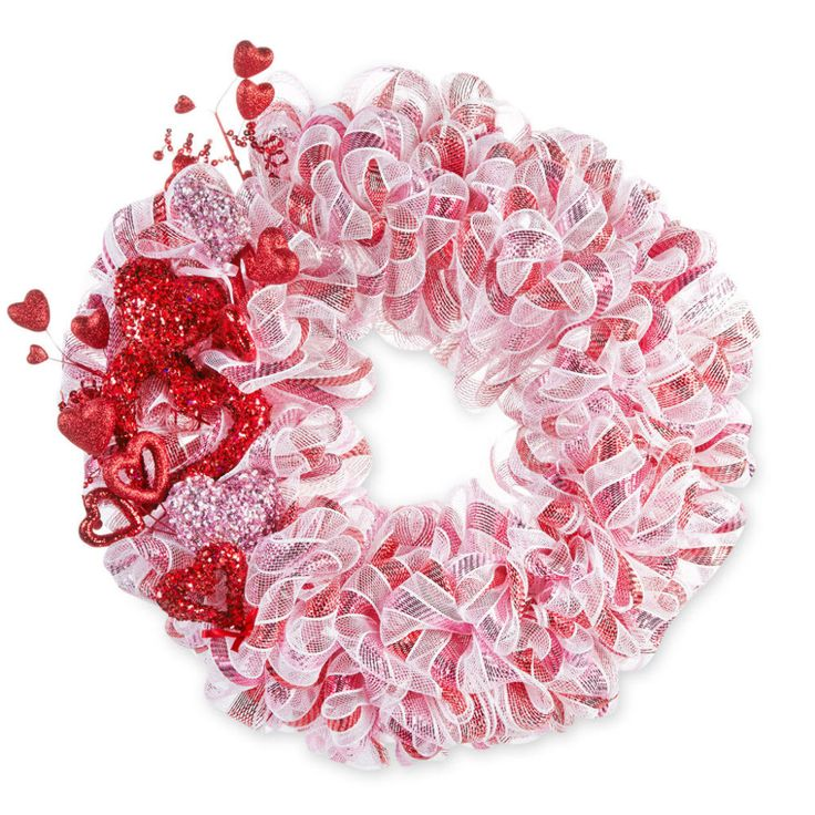 We'll show you how to create this Valentine's Day Mesh Wreath