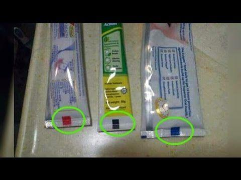 La verdad sobre el significado de las marcas de colores en la pasta de dientes - YouTube