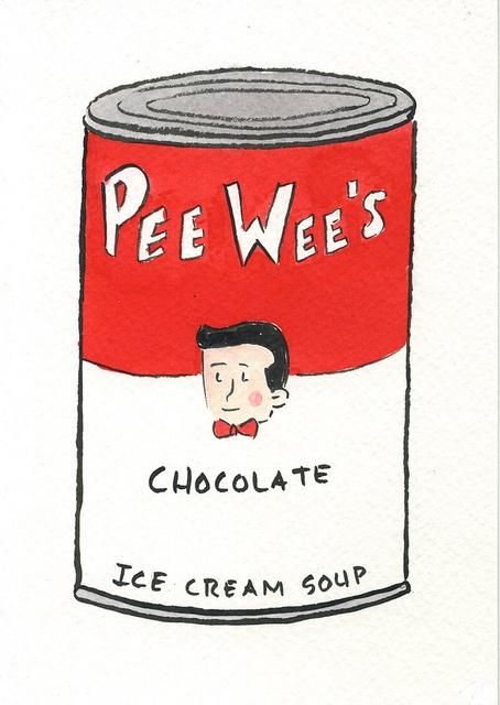 Pee Wee Herman's chocolate ice cream soup