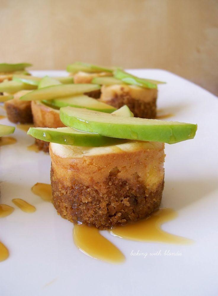 Mini gesalzene Karamell-Apfel-Käsekuchen   – Dessert..