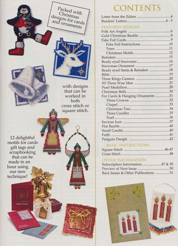 Jill Oxton's Cross Stitch & Beading issue 75 contents page. Issue 75 is available from Australian Needle Arts