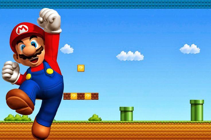 Super Mario Bros Imprimibles Invitaciones y Tarjetas Gratis MB
