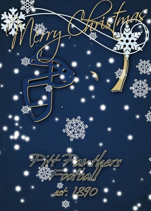 Pitt Panthers Greeting Card featuring the photograph Pitt Panthers Christmas Cards by Joe Hamilton