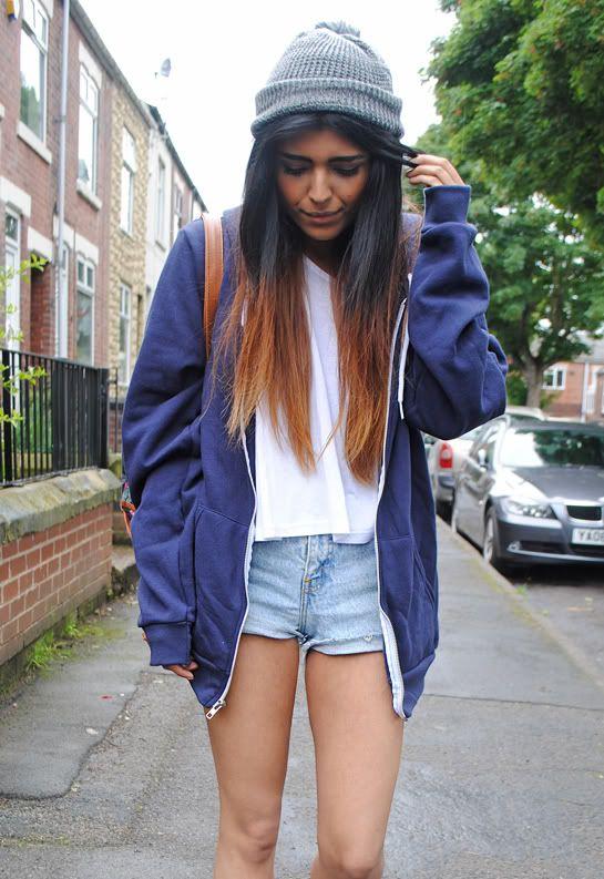Image Result For Girl Wearing Boyfriend Hoodie Fashion