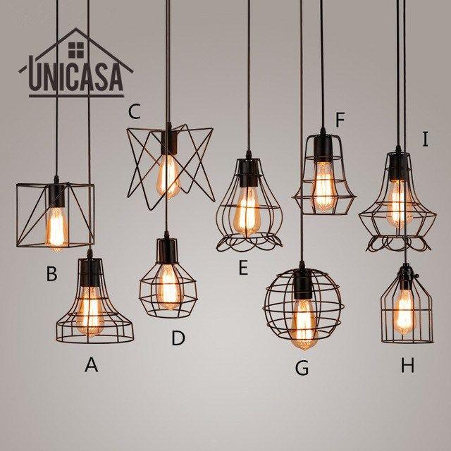 Lighting Fixtures Industrial Kitchen Antique Wrought Iron Pendant