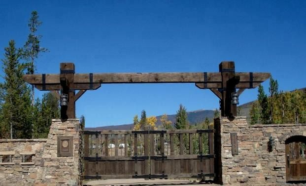 50 best images about driveway arches on pinterest for Ranch entrance designs